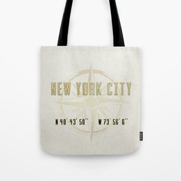 New York City Vintage Location Design Tote Bag