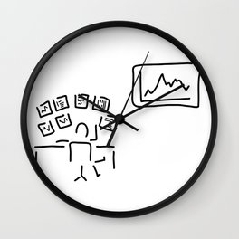 stock exchange stockbroker fund manager Wall Clock