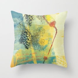 Wine Is the Earth's Answer to the Sun. Throw Pillow