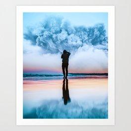Blue Cloud Art Print