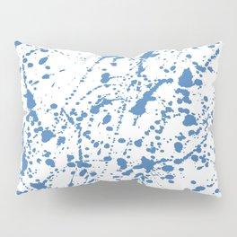 Splat Blue on White Pillow Sham