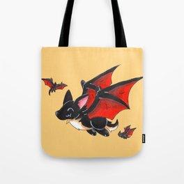 Corgipire Bat Tote Bag
