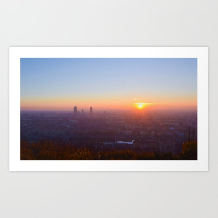As the day is beginning Art Print