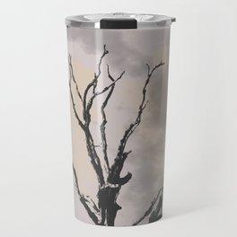 Stormy Skies, Abstract Art Tree Storm Clouds Travel Mug