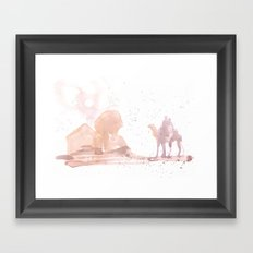 Watercolor landscape illustration_Egypt Framed Art Print