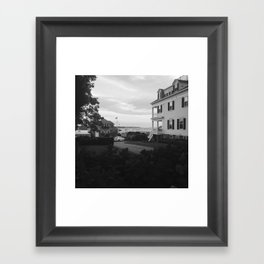 To the Pier Framed Art Print