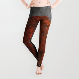 Abstract - Marble, Concrete, and Rusted Iron II Leggings