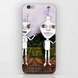 king and queen iPhone Skin