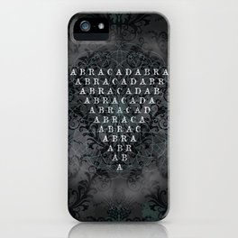 Abracadabra Reversed Pyramid in Charcoal Black iPhone Case