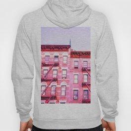 New York City Pink Buildings Hoody