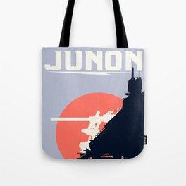 Final Fantasy VII - Visit Junon Propaganda Poster Tote Bag