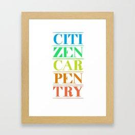 Citizen Carpentry Logo Framed Art Print