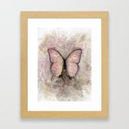 Powder pink butterfly Framed Art Print