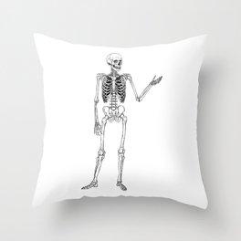 Skeleton Pose Throw Pillow