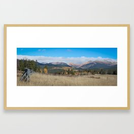 Fall in the Rockies Framed Art Print