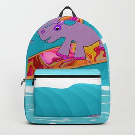 Just Like Momma - Hippos Surfing Backpack