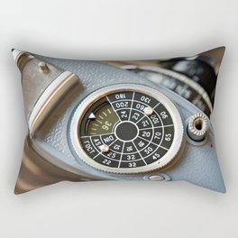Wheel to set control sensitivity retro camera Rectangular Pillow