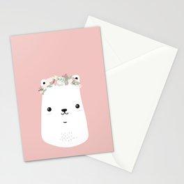 Flower bear Stationery Cards