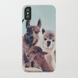 NEVER STOP EXPLORING - HAPPY FAMILY - ALPACA & LLAMA iPhone Case