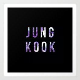 Jungkook BTS Art Print