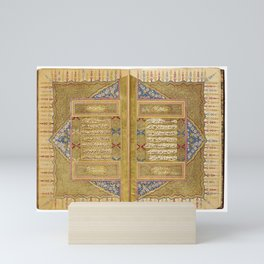 An illuminated Hilye, signed by Muhammad Amin, known as Fawzi, Turkey, Ottoman, 18th century Mini Art Print