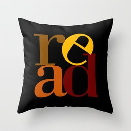 read love Throw Pillow