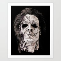michael myers Art Prints featuring michael myers by American Artist