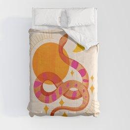 Abstraction_SUN_MOON_SNAKE_Minimalism_001 Comforters
