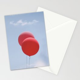 Red Balloons Stationery Cards