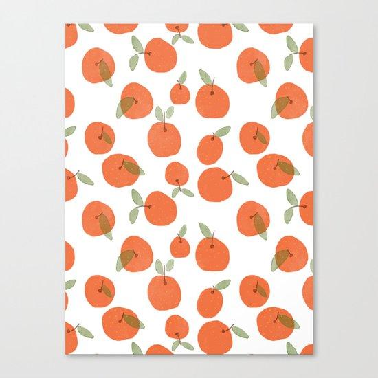 Oranges Pattern Canvas Print