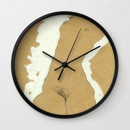 "Egon Schiele ""Female Nude with White Border"" Wall Clock"