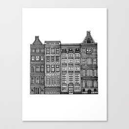 Dutch Canal House Canvas Print