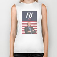 house of cards Biker Tanks featuring House of Cards / Campaign Poster I by Earl of Grey