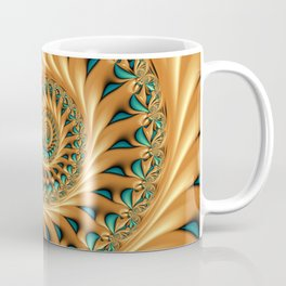 Fractal Splendor, Modern 3D Art Coffee Mug