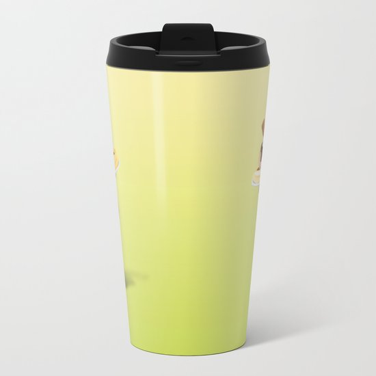 ice cream woman Metal Travel Mug