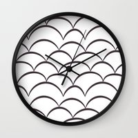 house stark Wall Clocks featuring Stark Scales by SonyaDeHart