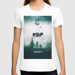 All lives matter go vegan T-shirt