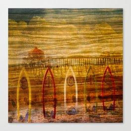 Pier through Shades Canvas Print
