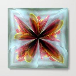Flower in Ice Metal Print