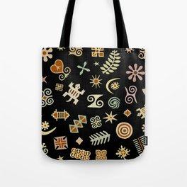 African Adinkra Symbols Tote Bag