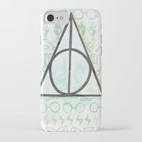 deathly hallows iPhone & iPod Cases featuring Deathly Hallows by Carmen McCormick