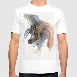 Arabian horse portrait watercolor art T-shirt
