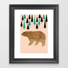 Bear in the woods Framed Art Print