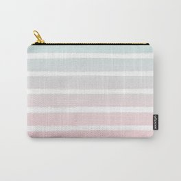 Michel - striped ombre fade trendy beach surfing baby nursery gender neutral art Carry-All Pouch