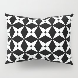 Geometric Pattern 247 (white crosses) Pillow Sham