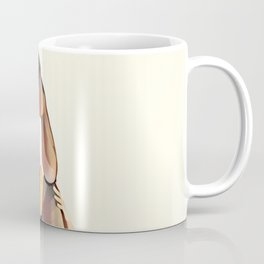 8283s-SLG Legs Up Woman in Mesh Stockings Watercolor Render Coffee Mug