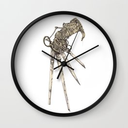 Scissorhands (Sepia-L) Wall Clock