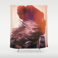 foxes Shower Curtains featuring Foxes by Ellen Richardson