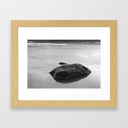 Silent Rocks Framed Art Print