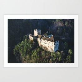 Castle Stixenstein in lower Austria - Aerial View Art Print